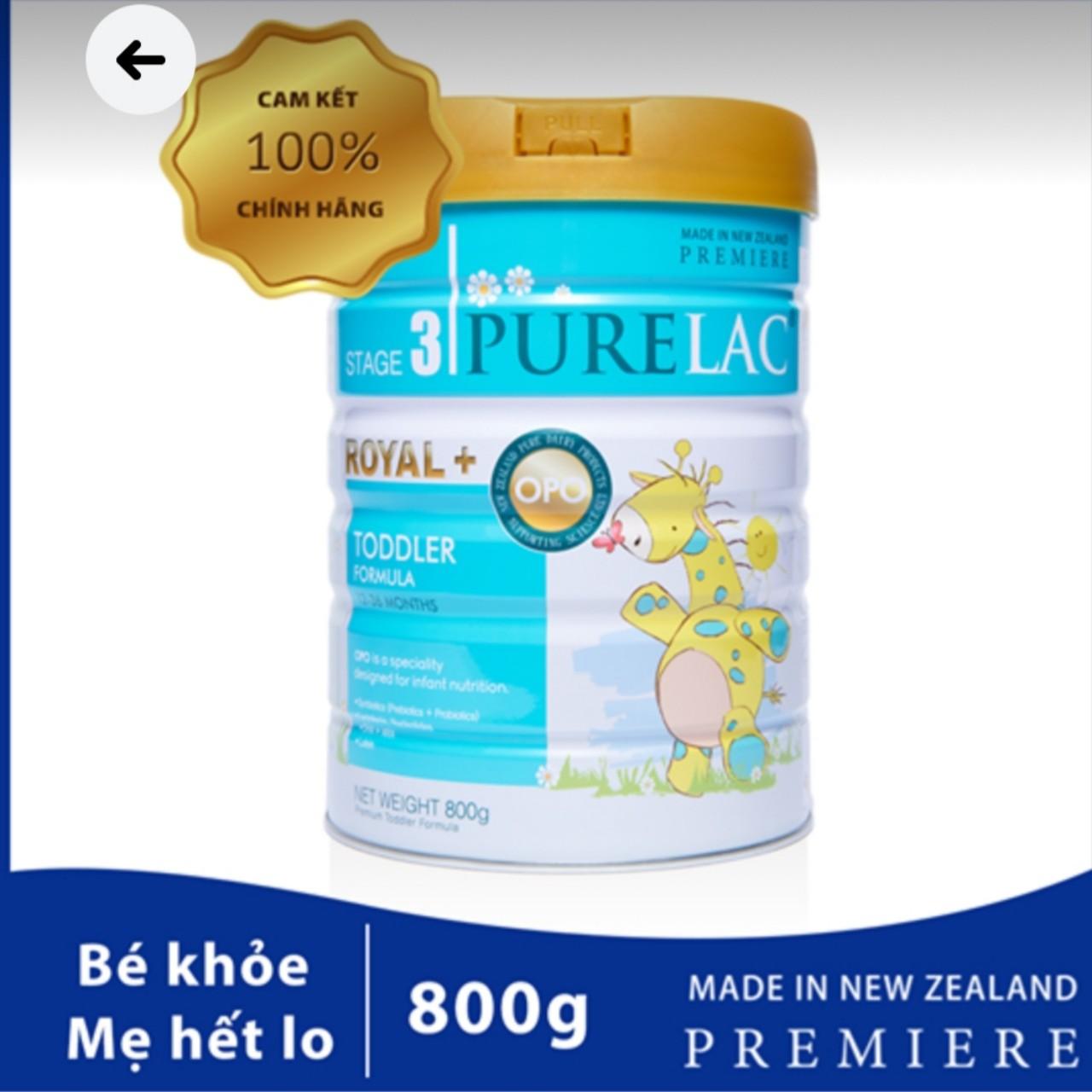 Sữa bột công thức PureLac Royal+ (Stage 3) hộp 800gr cho bé từ 12 dến 24 tháng
