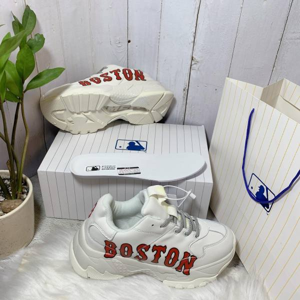 Giày Sneaker Trắng MLB Korea BOSTON RED SOX BIG BALL CHUNKY P Full Box