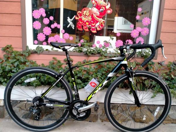 Mua Xe đạp đua GALAXY LP400, Khung Sườn hợp kim Nhôm Sơn tĩnh điện cao cấp, Trọng Lượng 13.5kg, Bộ truyền động SHIMANO Tốc Độ xé gió Fast R21, Bánh xe 700X25C, Màu Trắng Xanh lá Đen