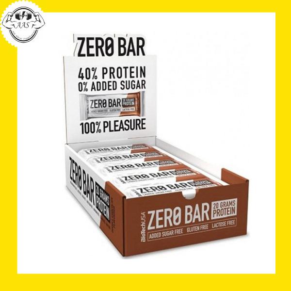 PROTEIN BAR - BIOTECHUSA - ZERO BAR - 20 BAR - Thay thế bữa ăn nhẹ - Từ Châu Âu
