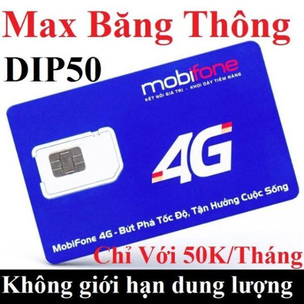 Giá SIM 3G/4G MOBI DIP50 LUOT WEB THAGA KHÔNG GIỚI HẠN DATA CHỈ 50K/THÁNG