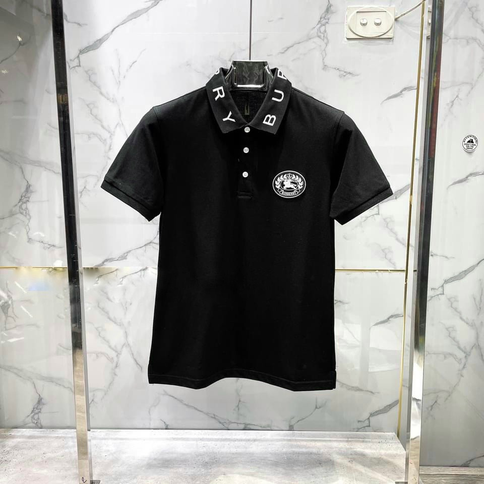 Áo thun polo cổ bẻ BURY logo ngựa cao cấp, Chất liệu cotton cá sấu, phong cách thể thao , 2 màu trắng đen, full size từ 35-90kg