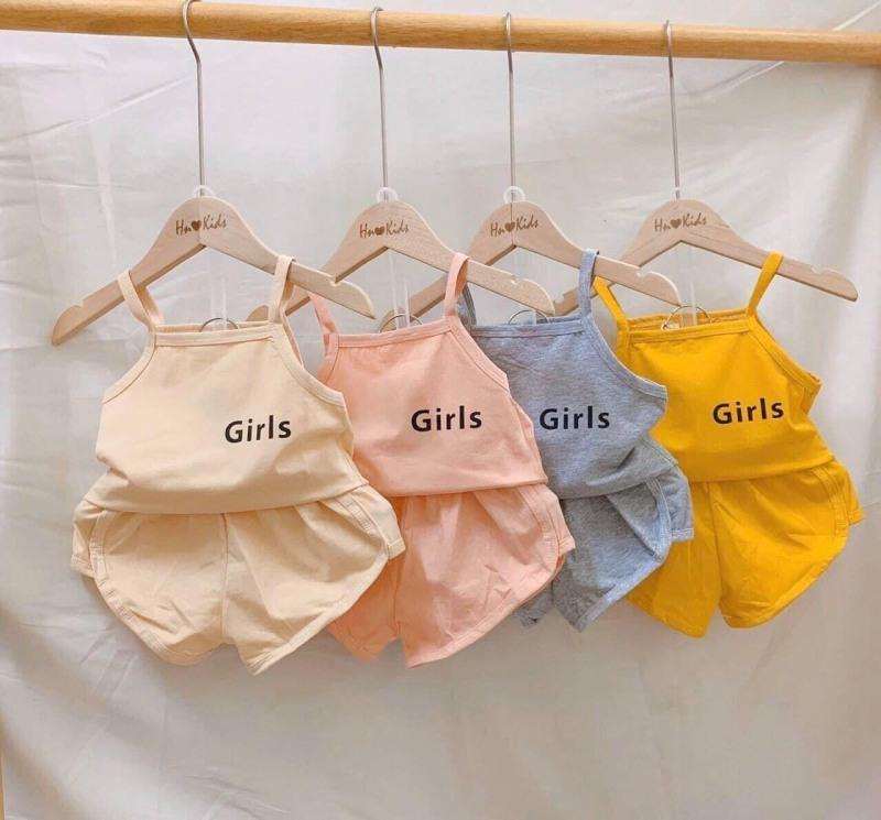 Nơi bán Sét 3 Đồ bộ thun cotton cho bé gái size 4kg đến 25kg như hình