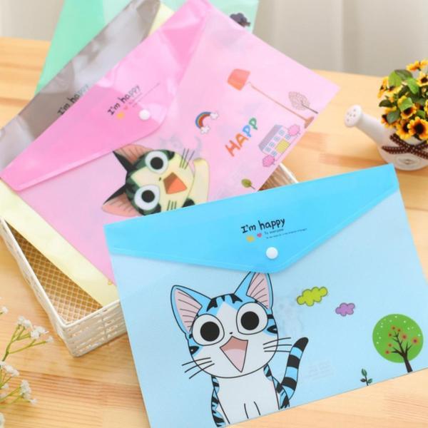 Mua Túi đựng hồ sơ, tài liệu giấy A4 họa tiết Mèo Cute