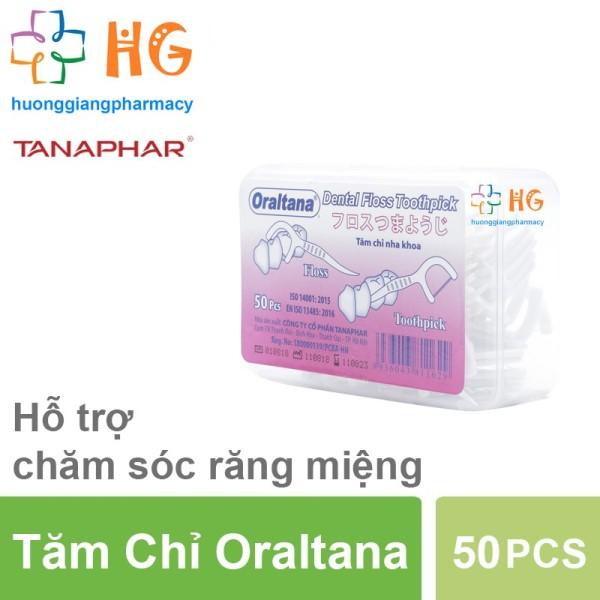 Tăm chỉ nha khoa Oraltana (Hộp 50 PCS) giá rẻ