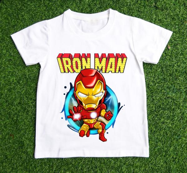 Áo thun dành cho bé trai in hình  IRON MAN  dễ thương chất vải dễ chịu- BTBB4-THƯƠNG HIỆU LAVIESHOP