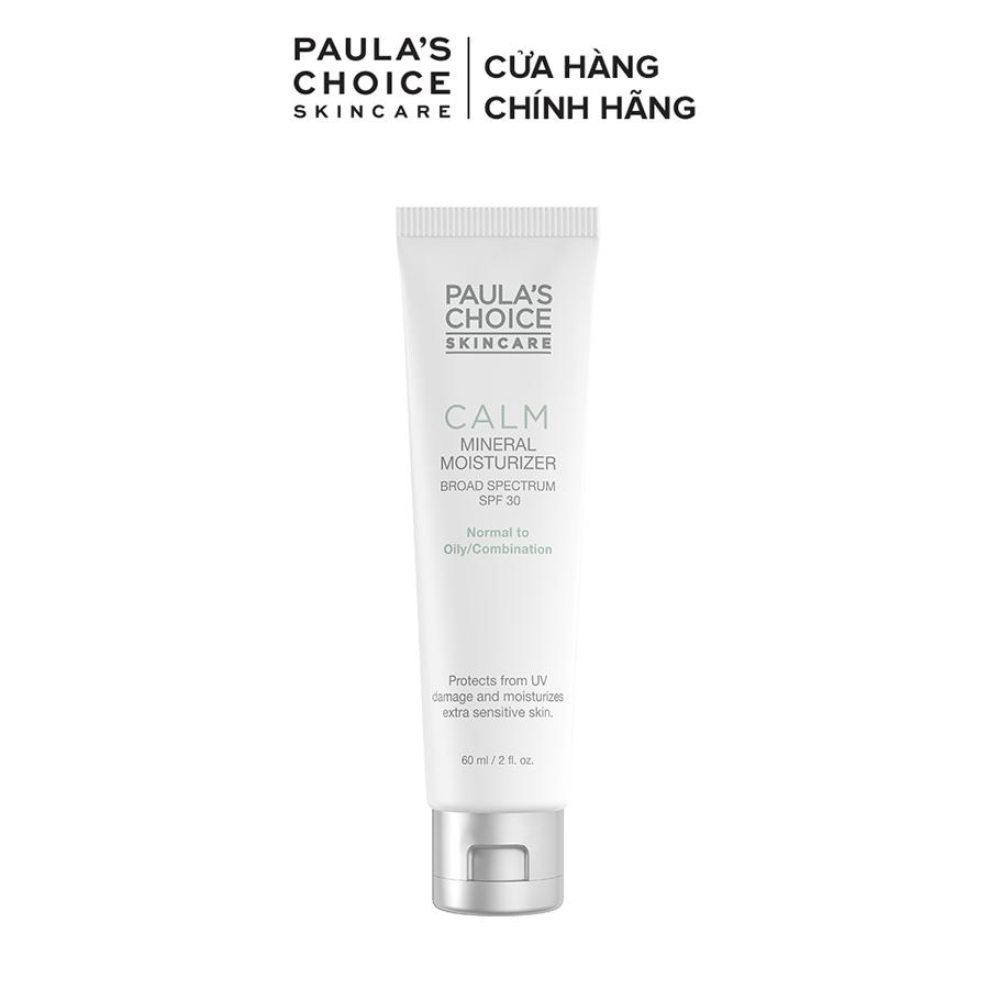 Kem chống nắng cho da nhạy cảm Paula's Choice Calm Mineral Moisturizer SPF 30 - Oily Skin