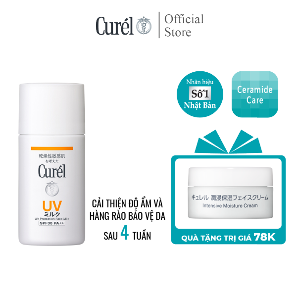 Sữa Chống Nắng Curel UV Protection Face Milk SPF 30 PA++ 30ml