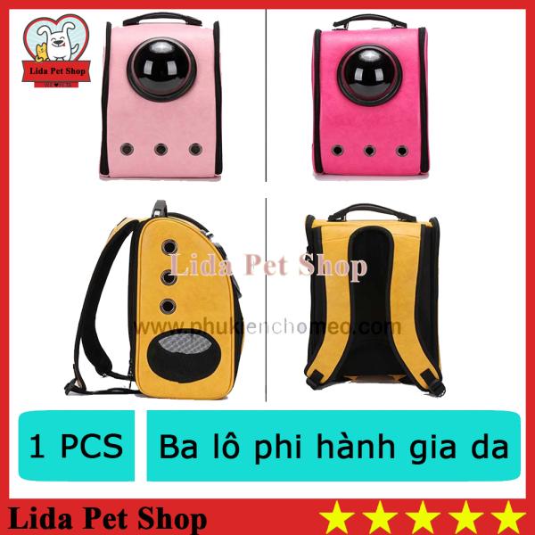 HN- Balo / túi vận chuyển chó mèo -Ba lô phi hành gia da (cho vật nuôi có trọng lựơng dưới 6kg) ( 4711828)-HP10853TC