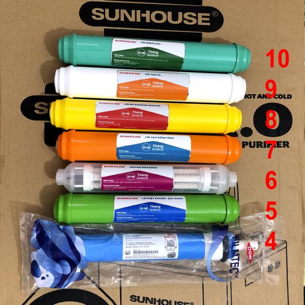 Bảng giá Combo lõi lọc khoáng Sunhouse số 4 5 6 7 8 9 10 - Chính hãng Điện máy Pico