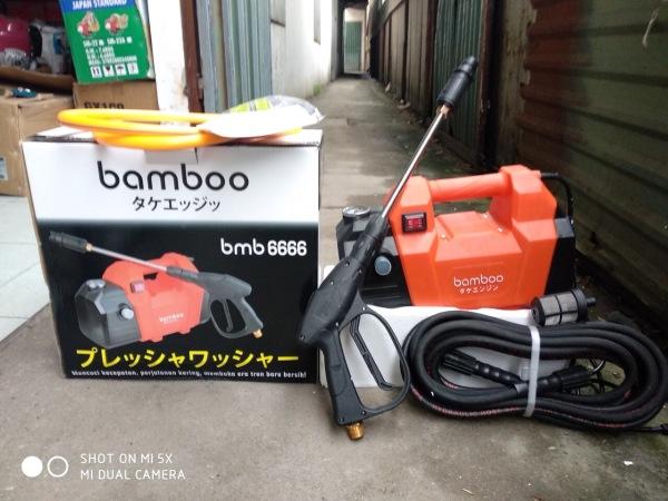 Máy Rửa Xe Mini 1800W Bamboo 6666 - Êm - Đầm - Khỏe