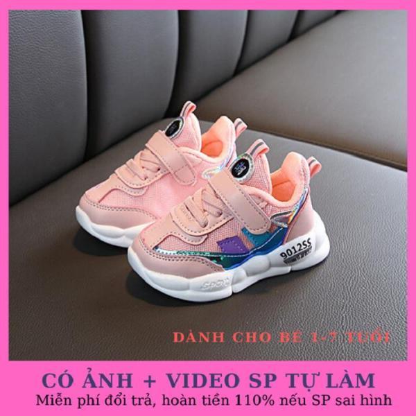 Giá bán Giày bé gái cao cấp 9012SS màu hồng, siêu nhẹ phong cách Hàn Quốc dành cho bé 1-7 tuổi