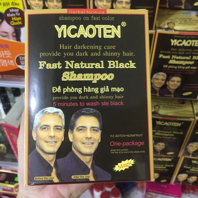 Hộp 10 Gói Dầu Gội Thảo Dược Đen Tóc Yucaitang đen tóc tự nhiên tiện lợi cao cấp