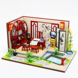 Nhà búp bê Ngôi nhà búp bê tự làm Nhà búp bê bằng gỗ S921 thumbnail