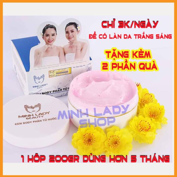 [BÁN CHẠY] Kem body phân tử nước Minh Lady Beauty, 200gr dùng hơn 5 tháng ,siêu tiết kiệm, Tặng kèm son môi