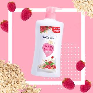 Sữa tắm Hazeline yến mạch dâu tằm 1.2kg sữa tắm dưỡng ẩm sáng da rạng ngời thuần khiết thumbnail
