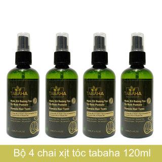 Bộ 4 chai tinh dầu bưởi xịt mọc tóc pomelo Tabaha (120ml x 4) thumbnail