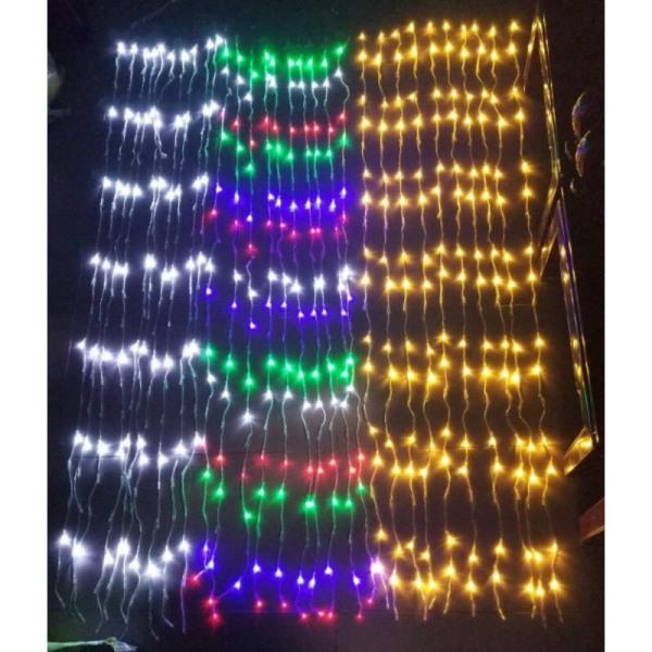 Bảng giá (HIỆU ỨNG THÁC NƯỚC) RÈM CỬA ĐÈN LED 3*2.2 M 10 SỢI ĐÈN LED FAIRY LIGHT TRANG TRÍ TIỆC NOEL LỄ TẾT-CURTAIN RAINFALL LED LIGHT