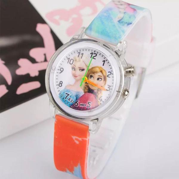 Nơi bán Đồng hồ Elsa & Anna dây silicon phát sáng nhiều màu sắc cho bé gái BBShine – DH013