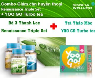 Combo Giảm cân huyền thoại Trà thảo mộc YOO GO + Bộ 3 thanh lọc thumbnail