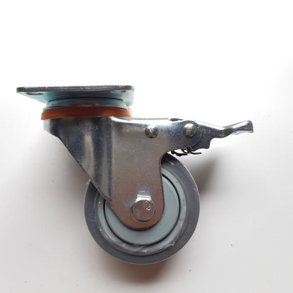 Bộ 4 bánh xe đẩy hàng 7.5 cm bằng Cao su cao cấp Giảm ồn tối đa