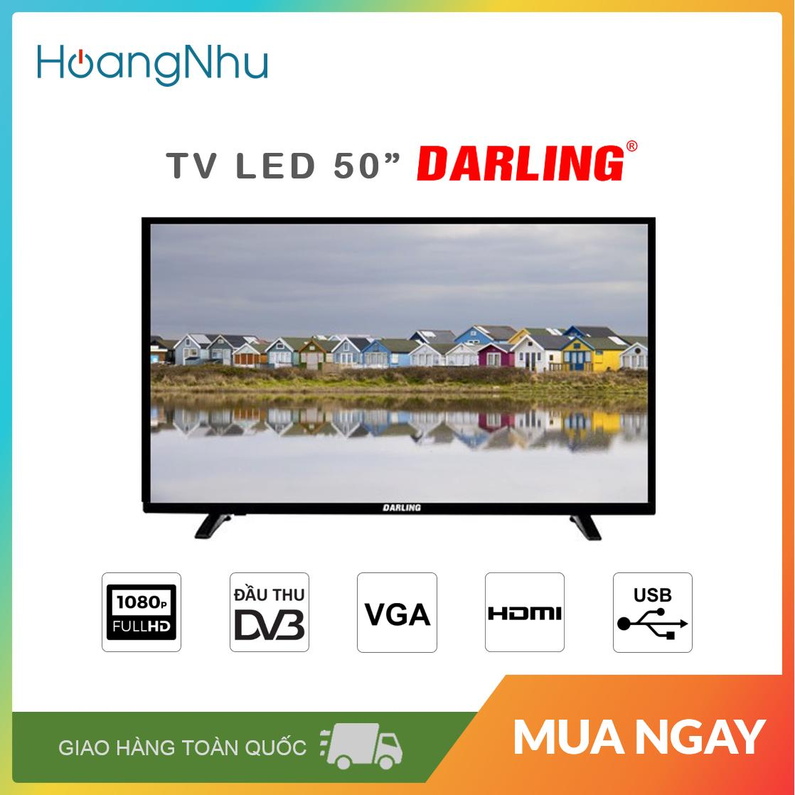 Bảng giá TV LED Darling 50 inch 50HD955T2 (Full HD, truyền hình KTS) - Bảo hành toàn quốc 2 năm