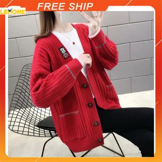 Áo len cadigan CHẤT LEN DÀY DẶN Áo len nữ Hàn Quốc thumbnail