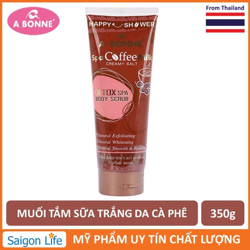 Muối Tắm Sữa Spa A Bonne Cà Phê Làm Trắng Da, Tẩy Tế Bào Chết A Bonne Spa Coffee Milk Creamy Salt 350g