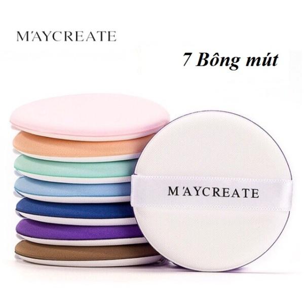 Một hộp 7 bông đánh phấn cushion cao cấp Maycreate full box MX giá rẻ
