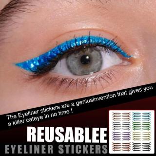 GUORE Dụng Cụ Làm Đẹp Nhiều Màu Sắc Sành Điệu Cho Nữ, Phụ Kiện Trang Điểm Đôi Tái Sử Dụng Dụng Cụ Mí Mắt, Miếng Dán Hai Mí Miếng Dán Kẻ Mắt thumbnail