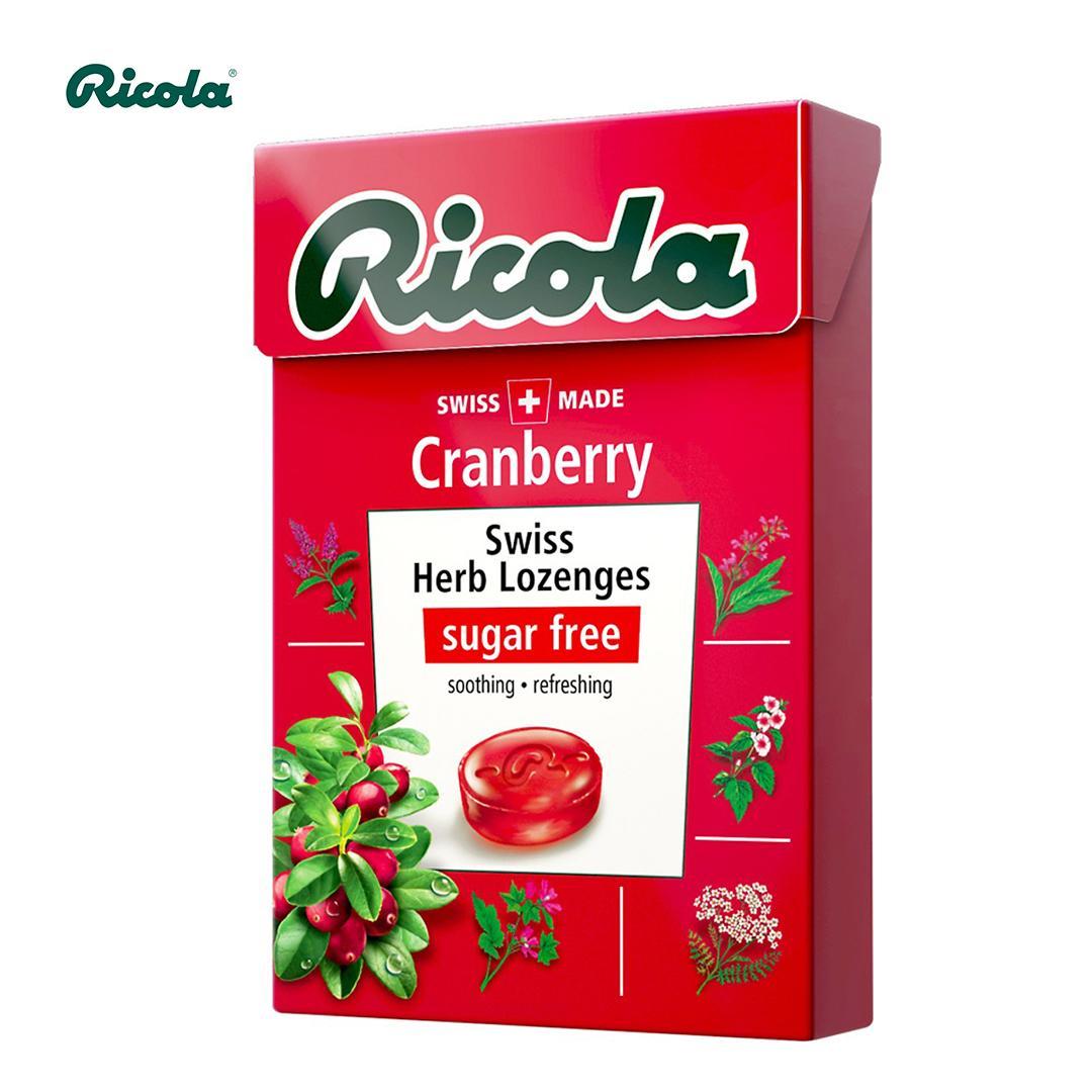 Kẹo thảo mộc trái cây Ricola Cranberry 40g