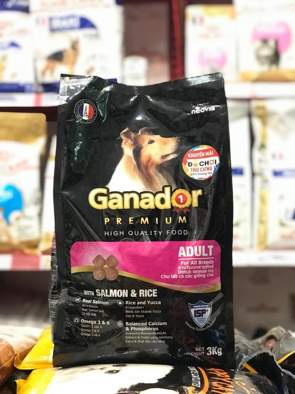 Thức ăn cho chó trưởng vị cá hồi và cơm Ganador Adult Salmon and Rice 3kg