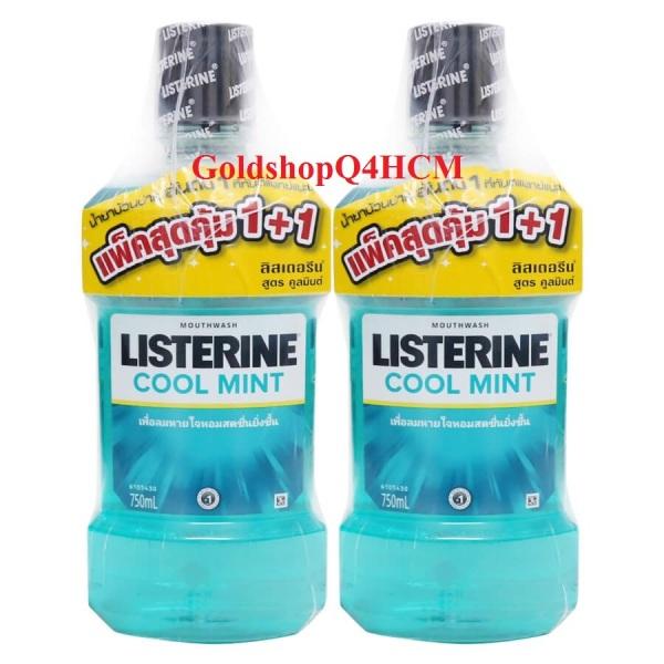 HSD T3/2023 - Combo 2 chai nước súc miệng Listerine 750ml x 750ml Thái lan giá rẻ