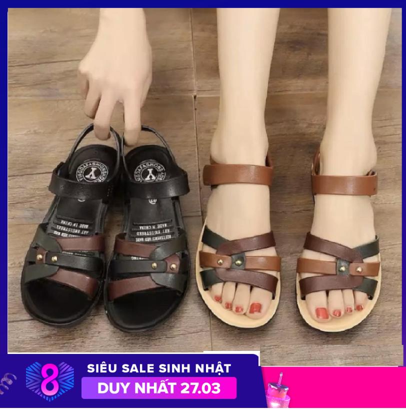 Dép sandal quai hậu nữ thời trang thiết kế chắc chắn bền đẹp êm chân - Hàng Quảng Châu chất lượng cao giá rẻ