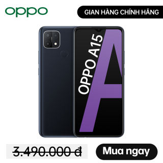 Điện thoại OPPO A15 - 3GB/32GB - Gian hàng chính hãng OPPO