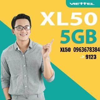 Sim 4G 10 số - Thánh sim viettel XL50 Tặng 5Gb tháng +Miễn phí cuộc gọi + tin nhắn. dùng toàn quốc. thumbnail