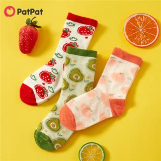 PatPat 3 Đôi Tất Dệt Kim Trái Cây Hoạt Hình Cho Em Bé/Trẻ Mới Biết Đi/Trẻ Em -Z