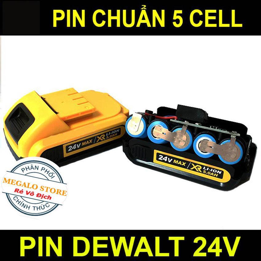 Pin Máy Dewalt Dùng cho khoan pin 26V 24V 21V 18V Pin Chuẩn 5 cell Bảo hành 6 tháng