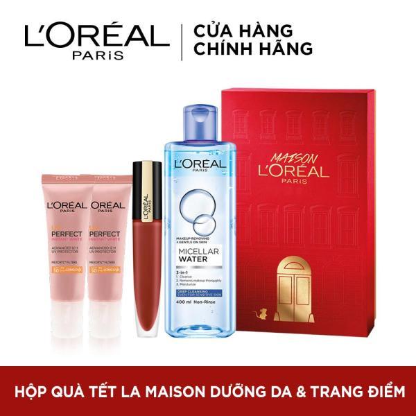 Hộp quà Tết dưỡng da và trang điểm LOreal Paris La Maison tốt nhất