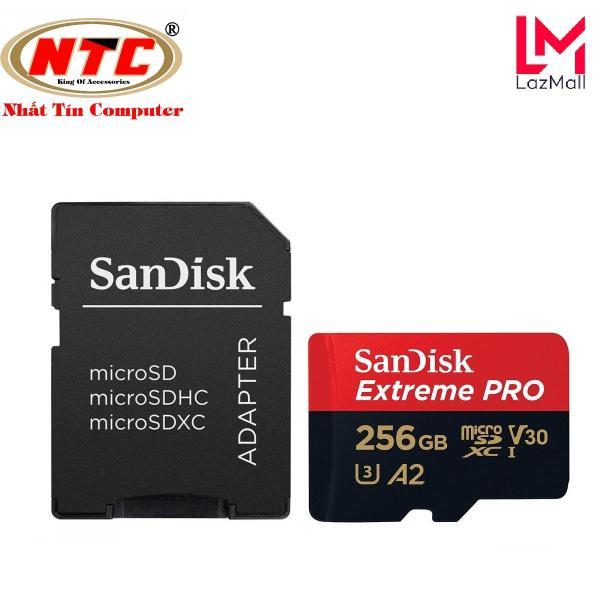 Thẻ Nhớ MicroSDXC SanDisk Extreme Pro V30 U3 4K A2 256GB R170MB/s W90MB/s (Đen đỏ) - Nhat Tin Authorised Store