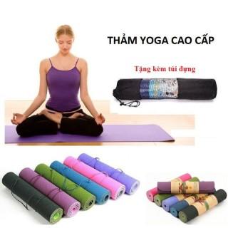 [TỰ CHỌN MÀU] Thảm Tập Yoga 2 Lớp Cao Cấp, Thảm Tập Gym, thảm tập thể dục tại nhà, miếng tập yoga, chống trượt thumbnail