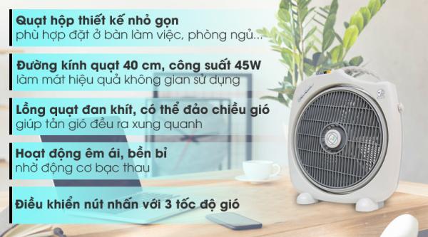 Quạt hộp Asia F16001 xám( HÀNG TRƯNG BÀY).