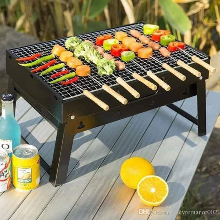 Bếp nướng BBQ tại vườn, Bếp Than Vuông Nướng, Bếp Than Vuông Cao Cấp nướng BBQ.