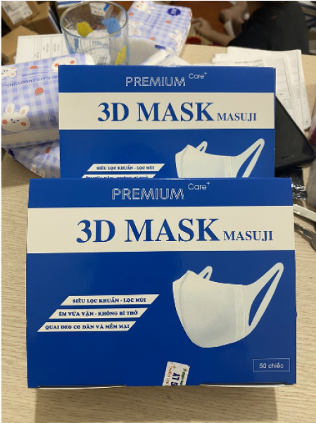 [SALE] Khẩu Trang 3D MASK Chính Hãng Masuji Kháng Khuẩn[Hộp 50c]