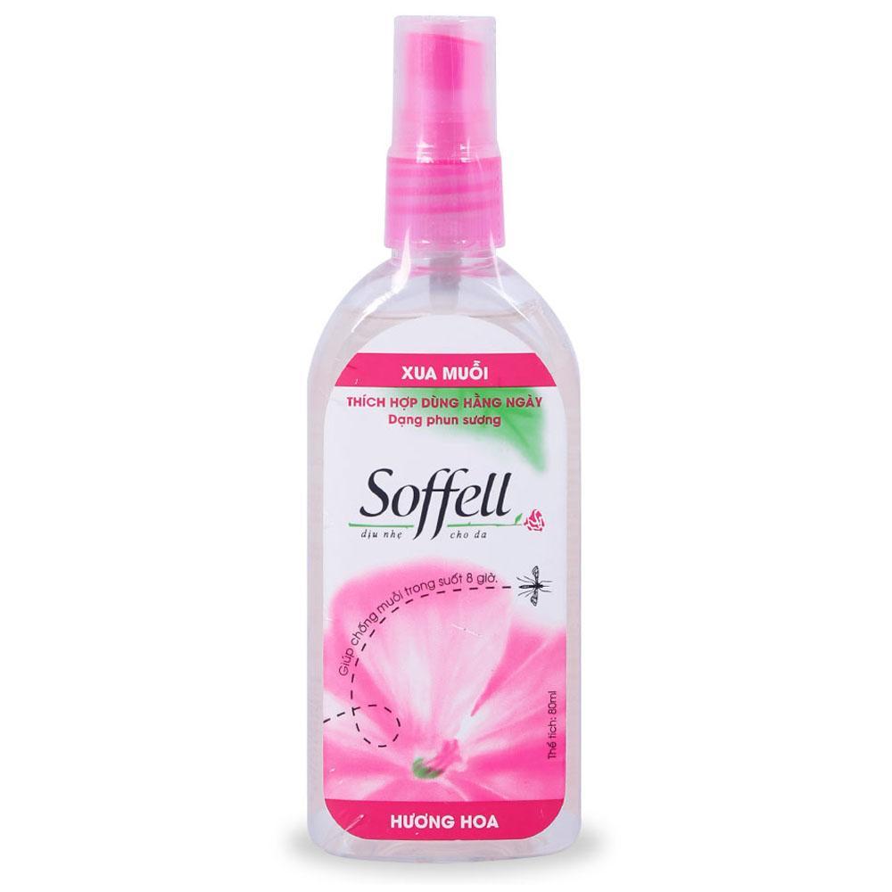 Chai xịt xua muỗi Soffell hương hoa 80ml