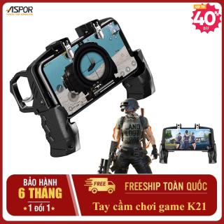 Tay cầm chơi game K21 pubg free fire -Tay game ban sung tay cầm hỗ trợ -Nút game hỗ trợ pubg - tay game phụ - phụ kiện Pubg Mobile - Xấy AK không giật như Nam Blue - bảng điều khiển game thumbnail