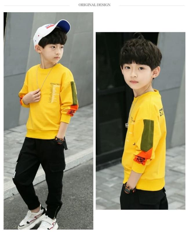 Bộ quần áo trẻ em chữ STORM dành cho bé trai 6-10 tuổi. Chất vải tốt, ấm áp