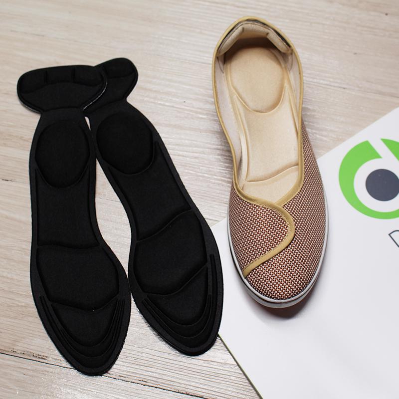Một cặp lót giày nữ cực êm chân dùng giảm size giày bị rộng chống rớt gót, lót giày nữ êm chân dùng mang giày búp bê giày cao gót, lót giày nữ chống trầy gót chân - Loại nguyên bàn chân - PK11