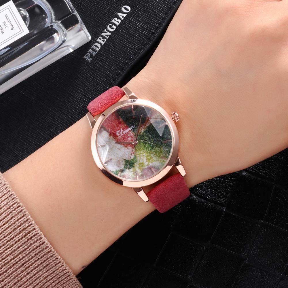Đồng hồ nữ DIMINI dây da mặt vát 3D thời thượng IW-Di977 bán chạy