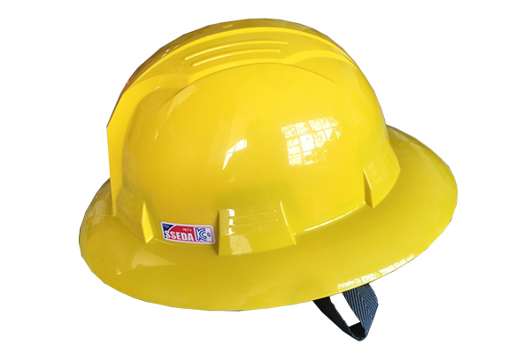 Mũ bảo hộ vành rộng SSEDA Hàn Quốc màu vàng